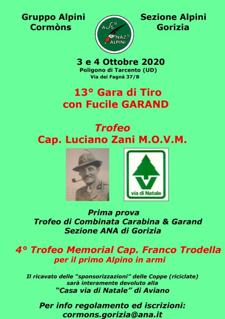 "13^ GARA DI TIRO CON FUCILE GARAND TROFEO ""CAP. LUCIANO ZANI"""