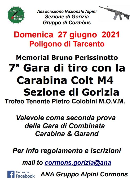 7^ GARA DI TIRO CON LA CARABINA COLT M4 - MEMORIAL BRUNO PERISSINOTTO